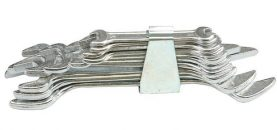 Sada klíčů plochých 6 ks 6 - 17 mm spona
