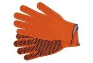 Rukavice pracovní bavlněné PVC tečky balení (5párů)