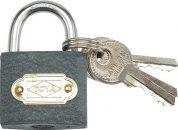 Zámek visací stavební 38 mm 3 klíče