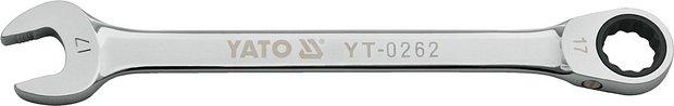 Klíč očkoplochý ráčnový 15mm protiskluz