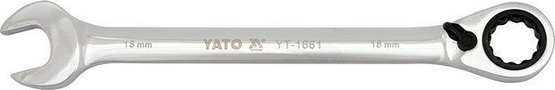 Klíč očkoplochý ráčnový 15 mm