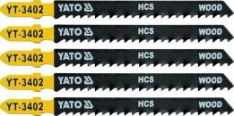 List pilový do přímočaré pily 100 mm na dřevo TPI8 5 ks