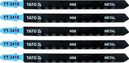 List pilový do přímočaré pily 130 mm na kov TPI21 5 ks