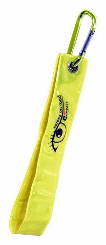 Přívěšek s karabinou reflexní S.O.R. žlutý