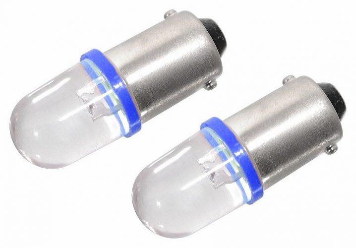 Žárovka 1LED 12V  Ba9s  modrá  2ks