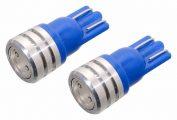 Žárovka 1SUPER LED 12V  T10  modrá 2ks