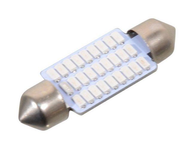 Žárovka 27 SMD LED 12V suf. SV8.5 38mm modrá