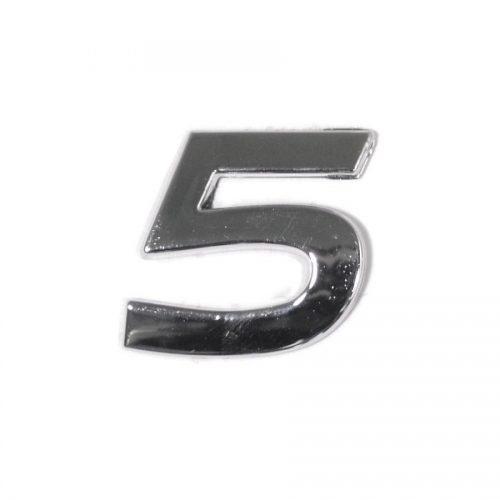 Znak 5 samolepící PLASTIC
