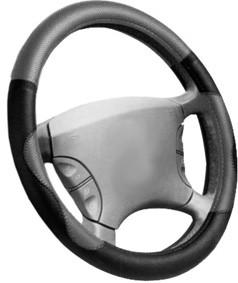 Poťah volantu 37-39cm čierno-šedý