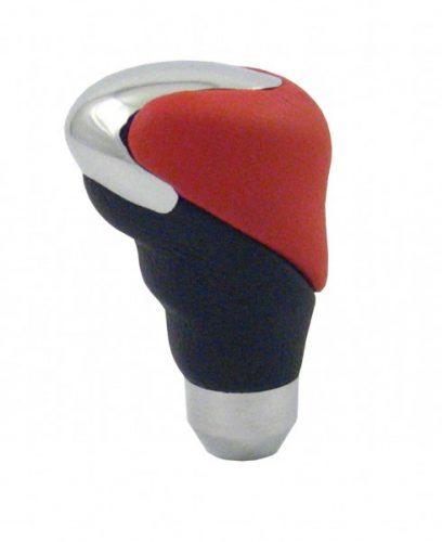 Koncovka radiacej páky koža čierno-červená