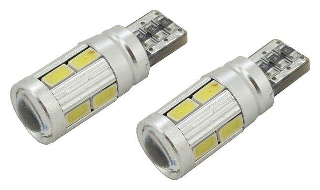 Žiarovka 10 SMD LED 3chips 12V T10 CAN-BUS ready biela 2ks