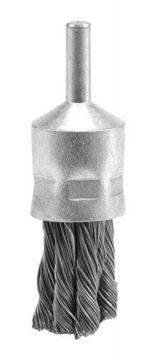 Kartáč drátěný čelní s nástavcem do vrtačky 22 mm pletený