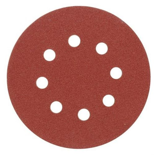 Brusný papír 125 mm P150 s otvory 5 ks suchý zip