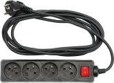 Kabel prodlužovací 3 m vypínač 4 zásuvky