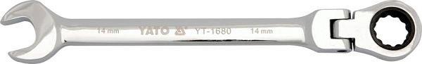 Klíč očkoplochý ráčnový 15 mm s kloubem