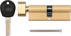 Vložka zámku s knoflíkem 62 x 31 x 31 mm mosaz 8 klíčů