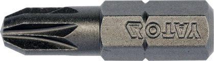 """Bit křížový 1/4"""" PZ3 x 25 mm 10 ks S2"""